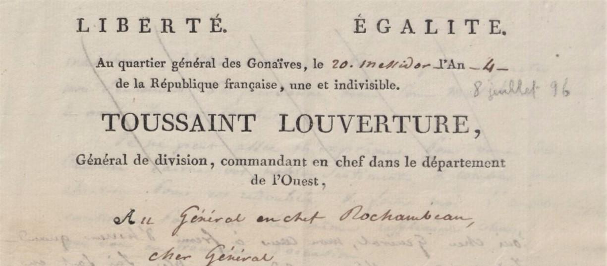 Louverture Letter