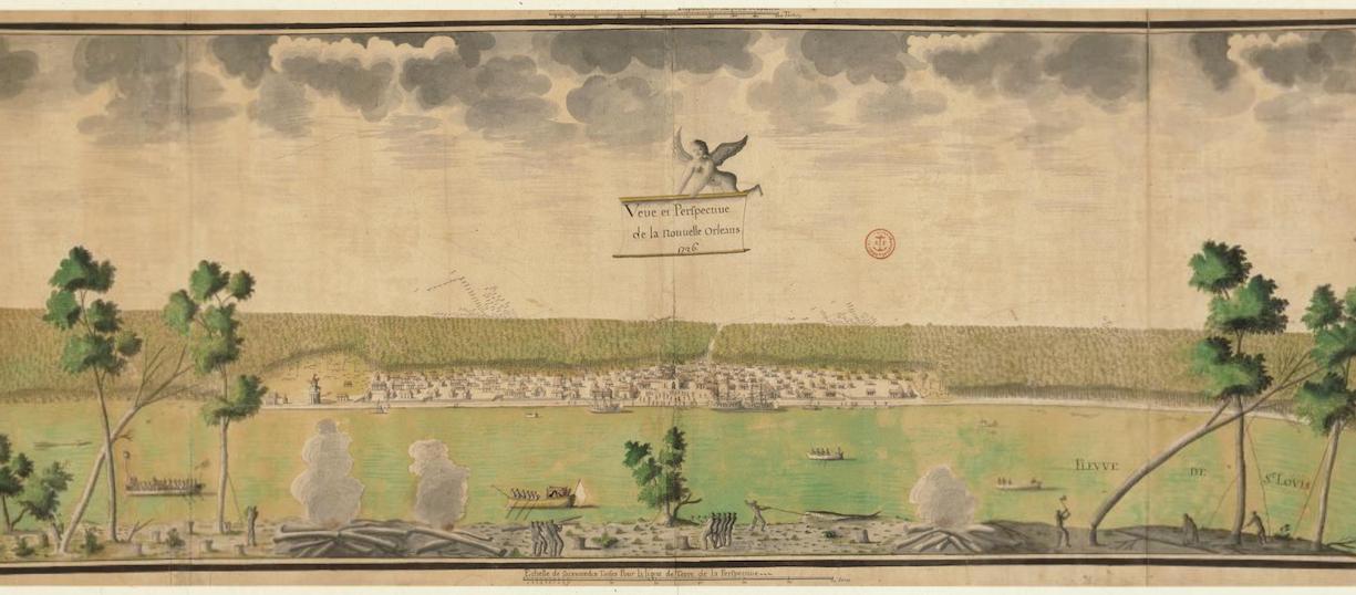 Vue et perspective de la Nouvelle-Orléans